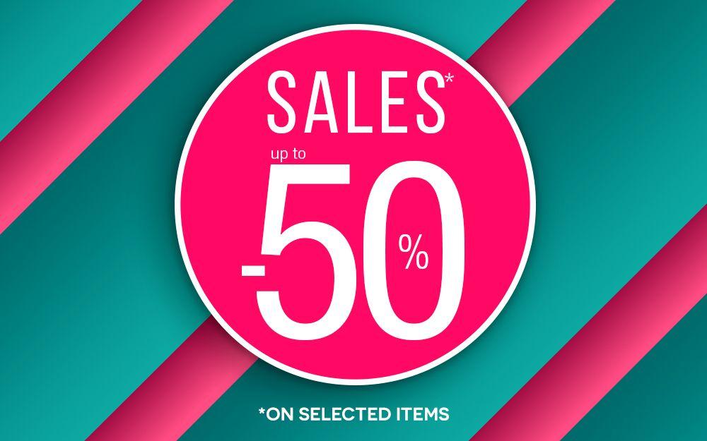SALES - 50%