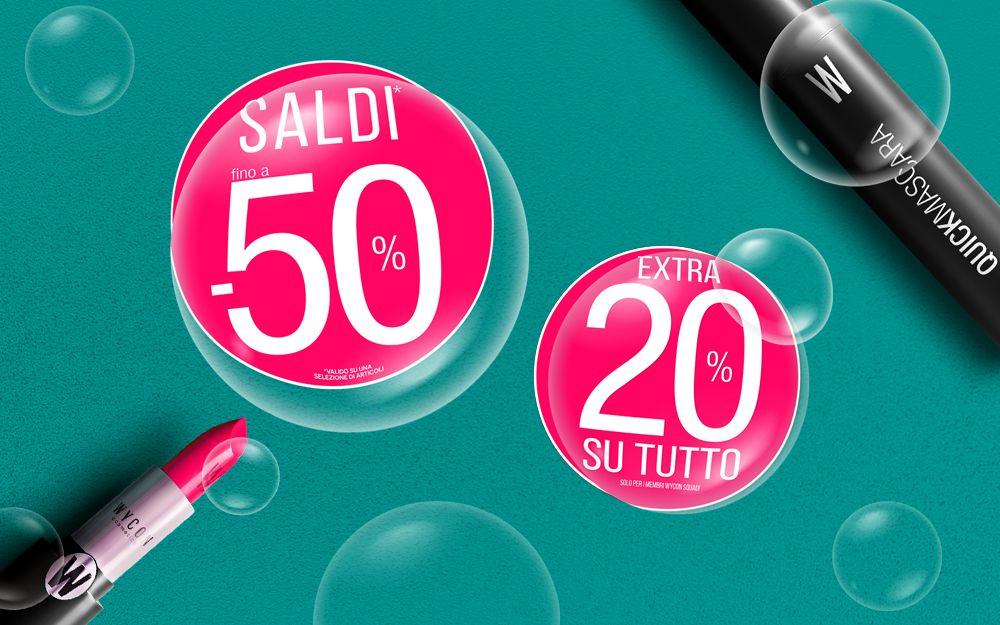 SALDI AL -50% + EXTRA 20%