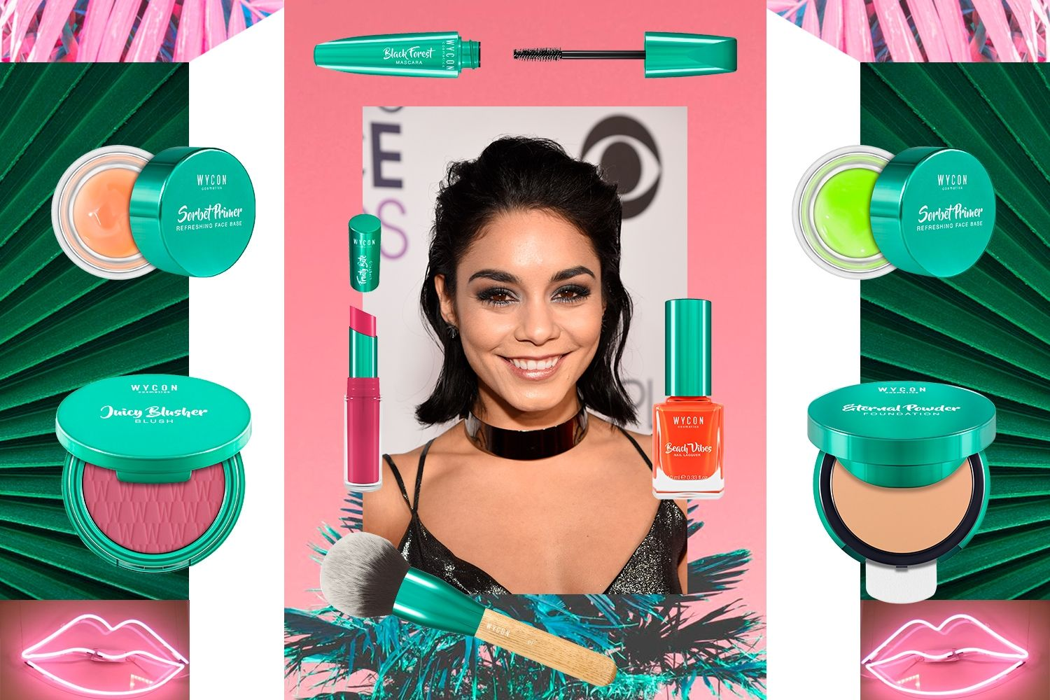 GET THE LOOK OF VANESSA HUDGENS Ottieni l'effetto Vanessa Hudgens con WYCON cosmetics in  pochi e semplici step