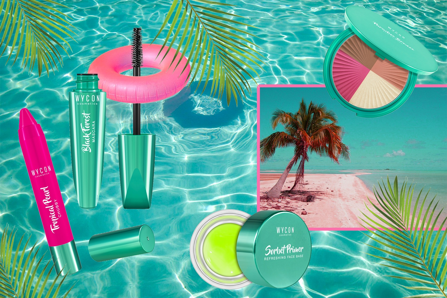 TROPICAL STYLE: I MUST HAVE DA PORTARE CON TE IN UN'ISOLA SPERDUTA La beauty list di WYCON cosmetics per vacanze last minute!