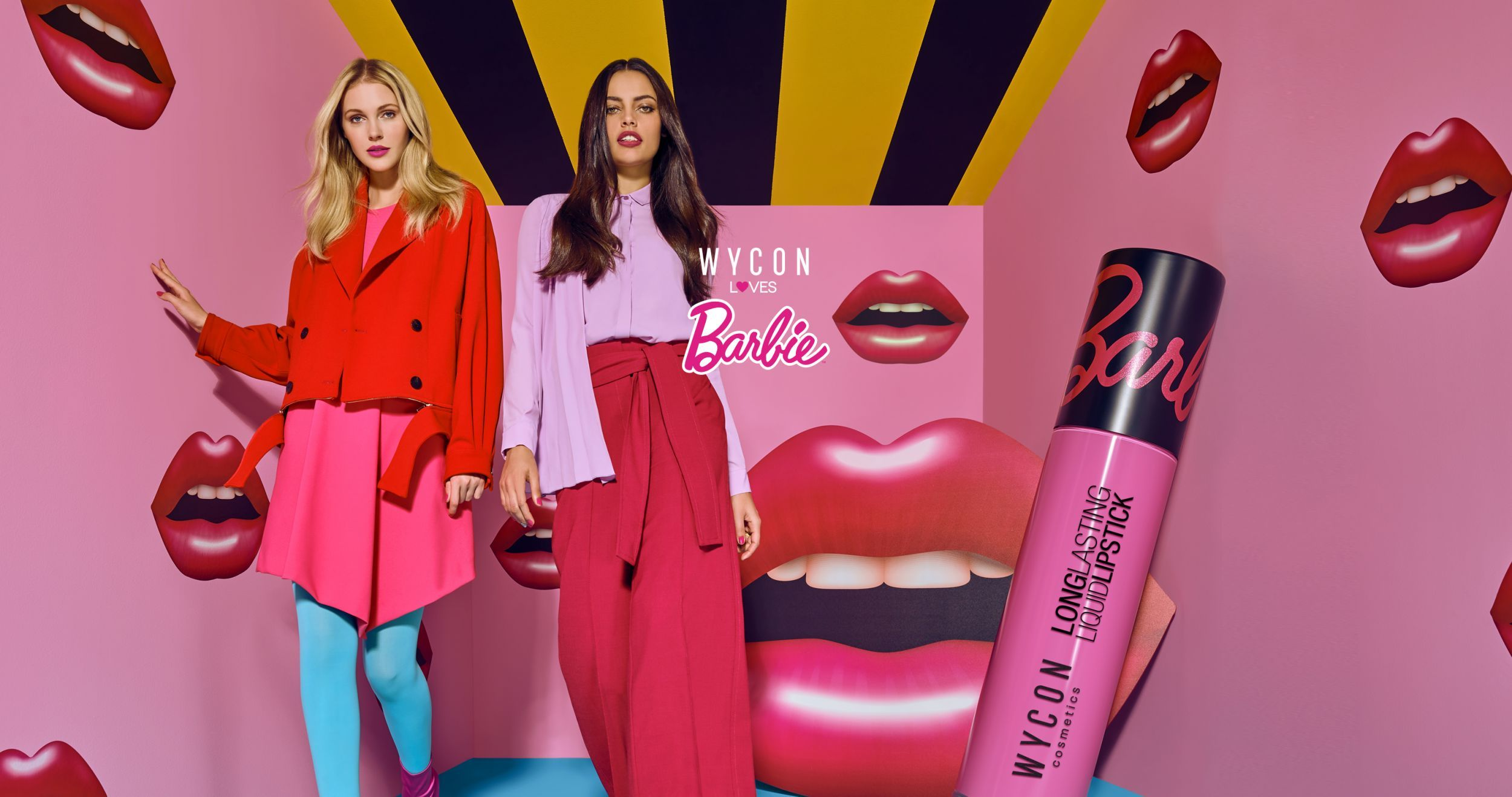 WYCON loves BARBIE  liquid lipstick collection